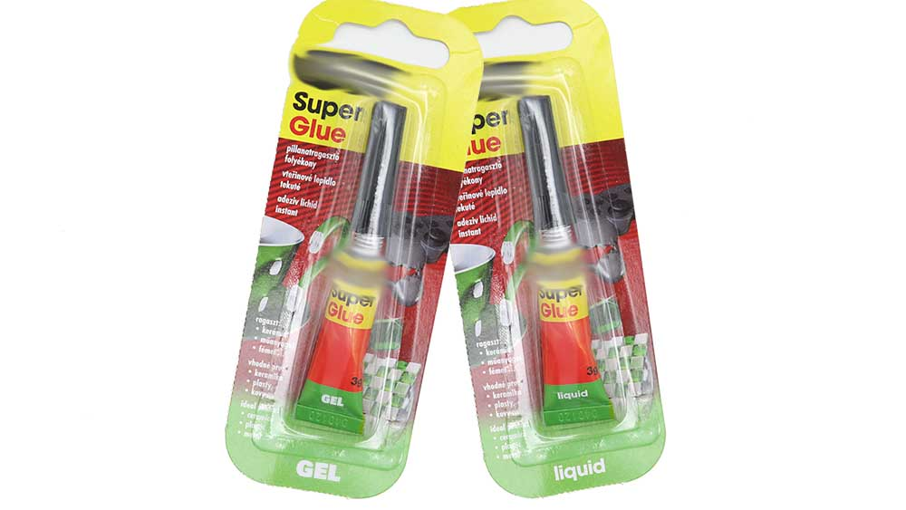 Super glue for assembly